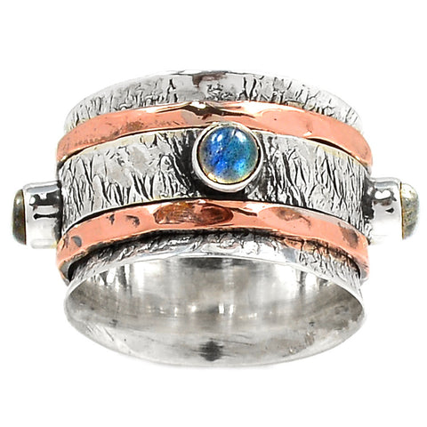 Spinner Ring Two Tone Labradorite Spinner