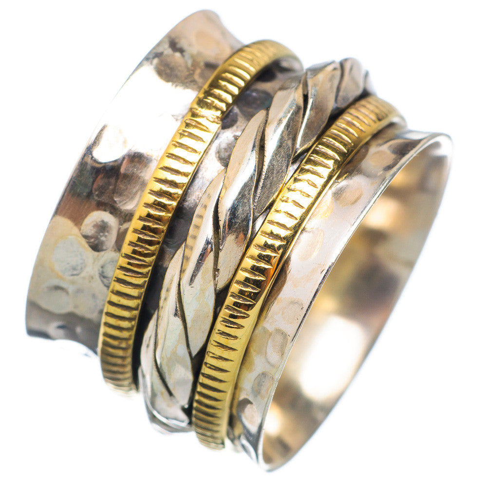 Spinner Ring - Two Tone Woven Spinner - Keja Designs Jewelry