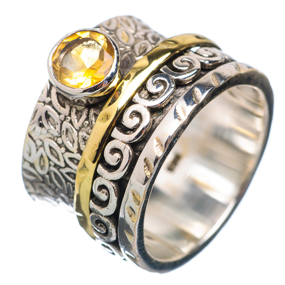 Spinner Ring - Two Tone Citrine & Bronze - Keja Designs Jewelry