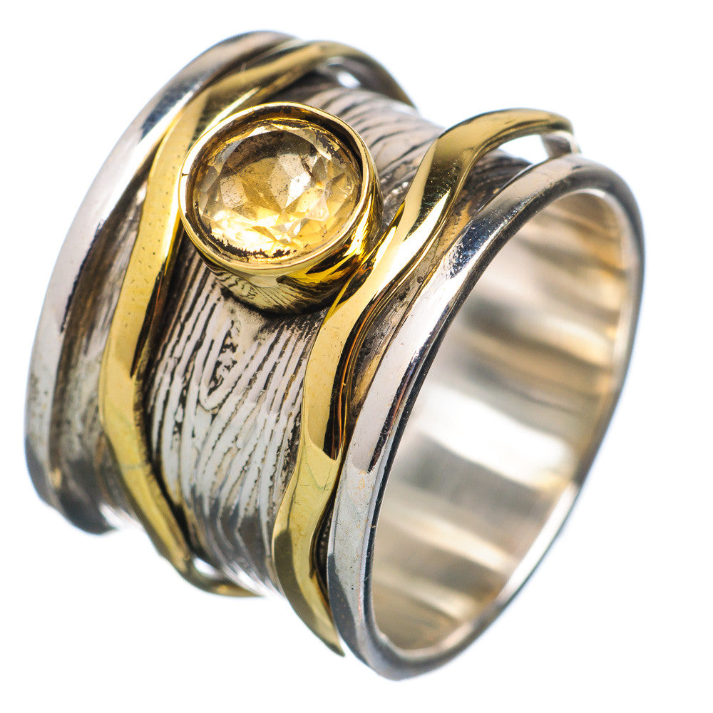 Spinner Ring Two Tone Citrine Spinner - Keja Designs Jewelry
