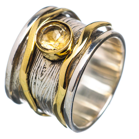 Spinner Ring Two Tone Citrine Spinner