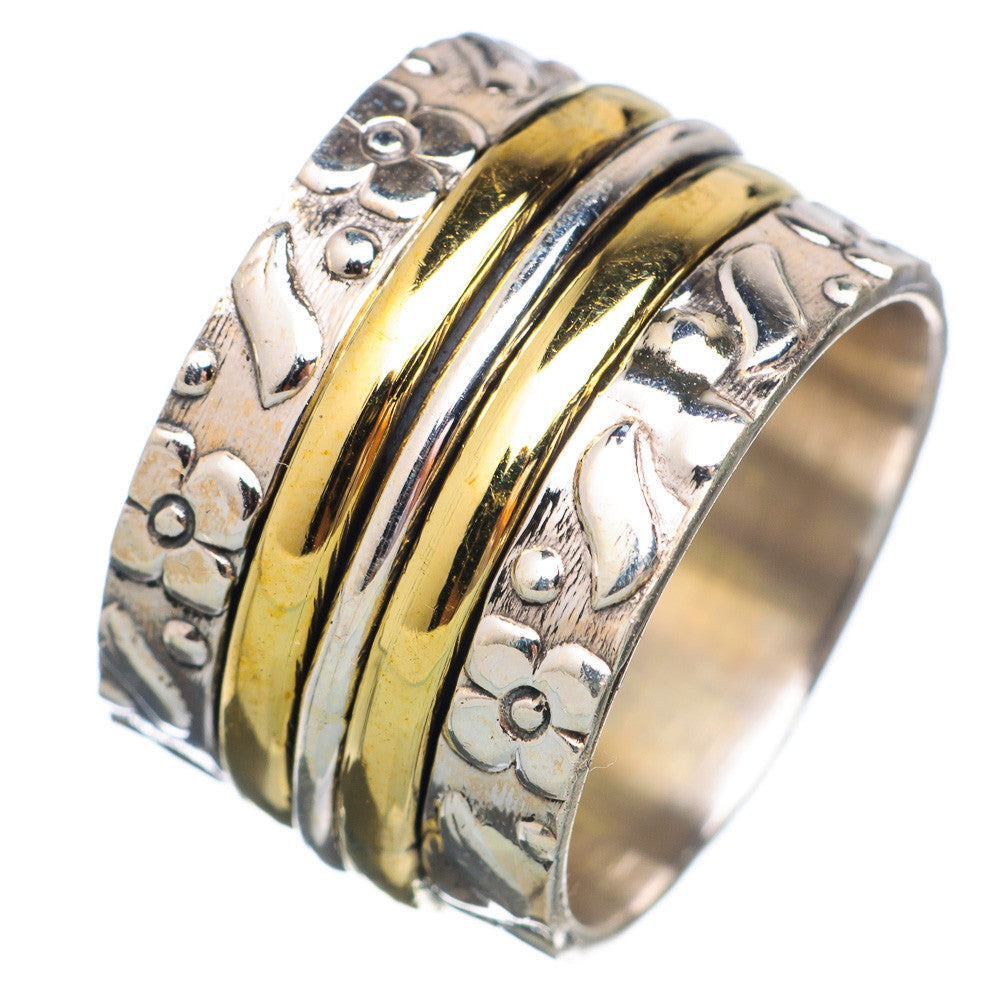 Spinner Ring -  Two Tone Triple Spinners - Keja Designs Jewelry