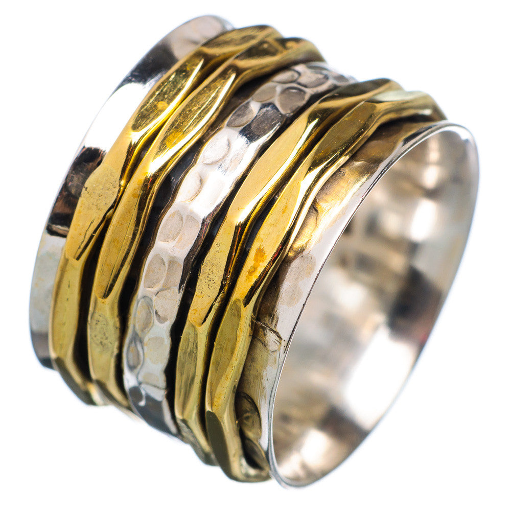 Spinner Ring - Two Tone Five Band Spinners - Keja Designs Jewelry
