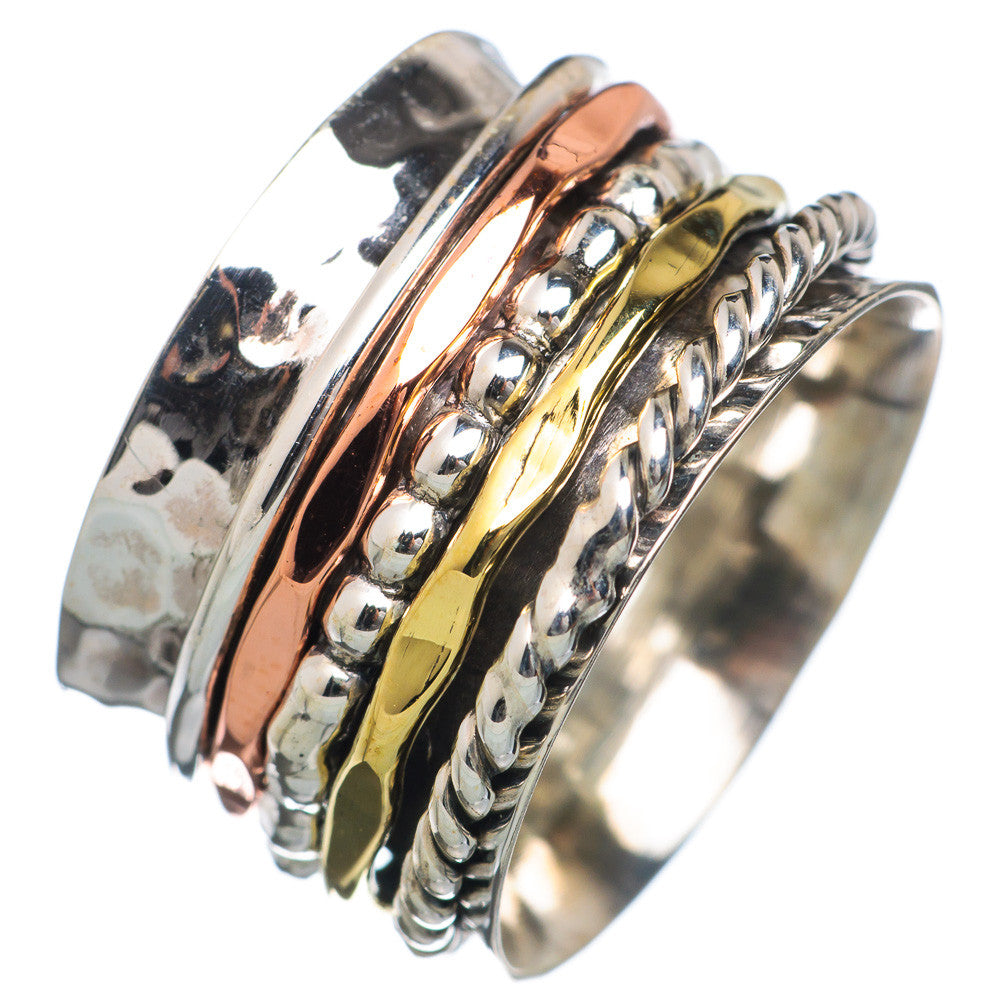 Spinner Ring - ThreeTone Five Spinner Bands - Keja Designs Jewelry