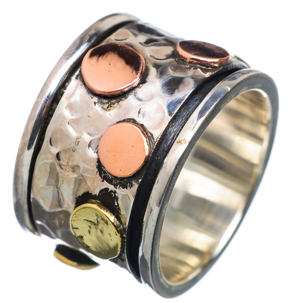 Spinner Ring - Three Tone Dots Spinner - Keja Designs Jewelry