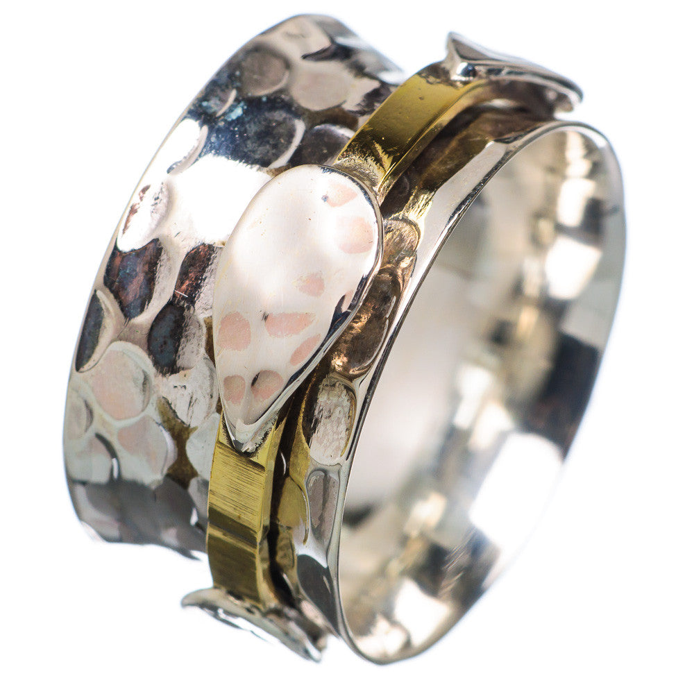 Spinner Ring - Two Tone Single Spinner - Keja Designs Jewelry