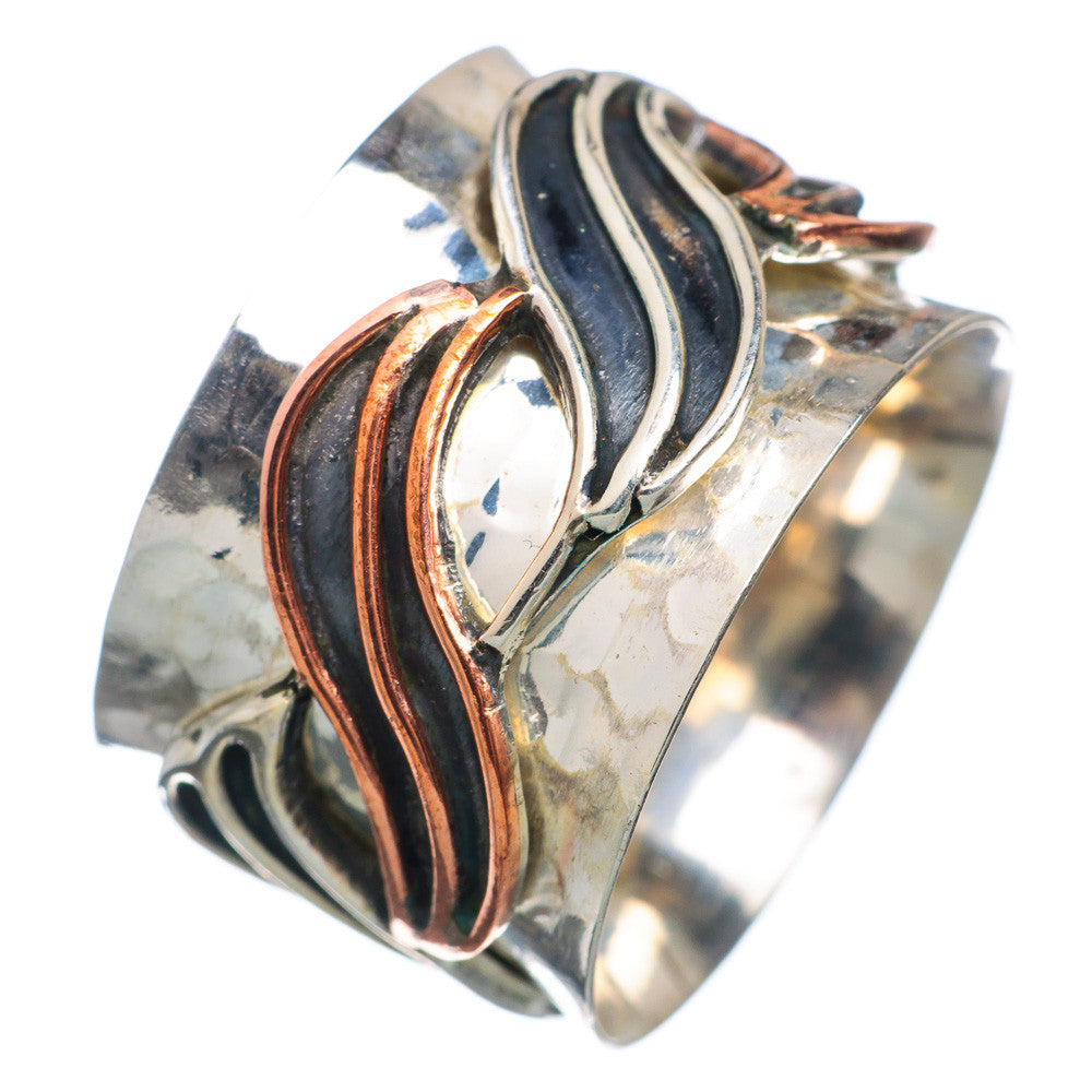 Spinner Ring - Two Tone Wave - Keja Designs Jewelry