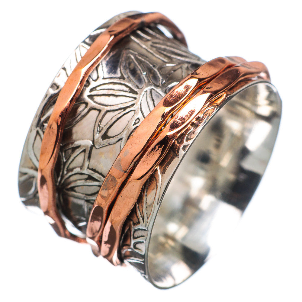 Spinner Ring - Two Tone Three Spinners - Keja Designs Jewelry