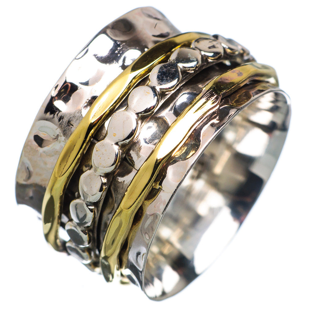 Spinner Ring - Two Tone Circle Spinner - Keja Designs Jewelry