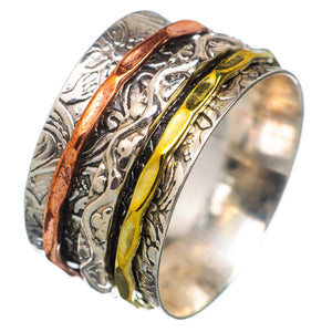 Spinner Ring - Three Tone Intricate Design - Keja Designs Jewelry