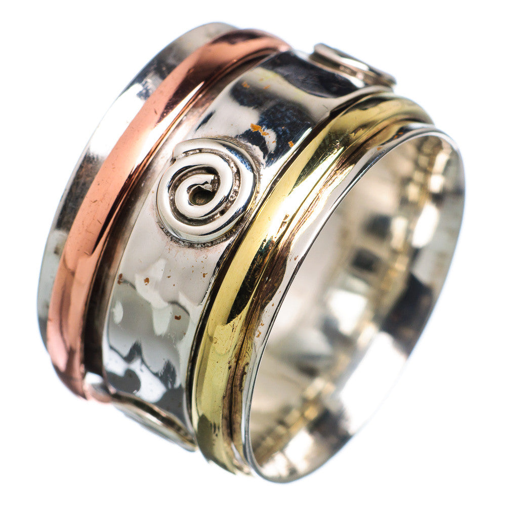 Spinner Ring Three Tone Sprial Bronze - Keja Designs Jewelry