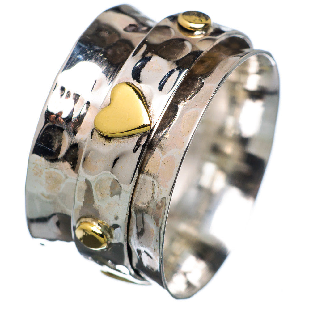 Spinner Ring TwoTone Heart - Keja Designs Jewelry