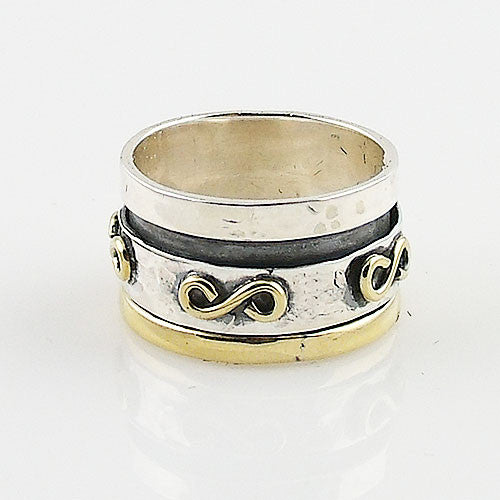 Spinner Ring - Two Tone Infinity Design - keja Jewelry - Keja Designs Jewelry