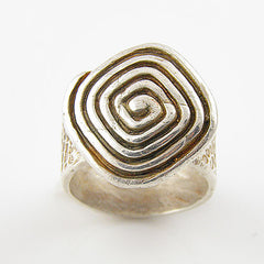 Spiral Pure Silver Ring - Keja Designs Jewelry