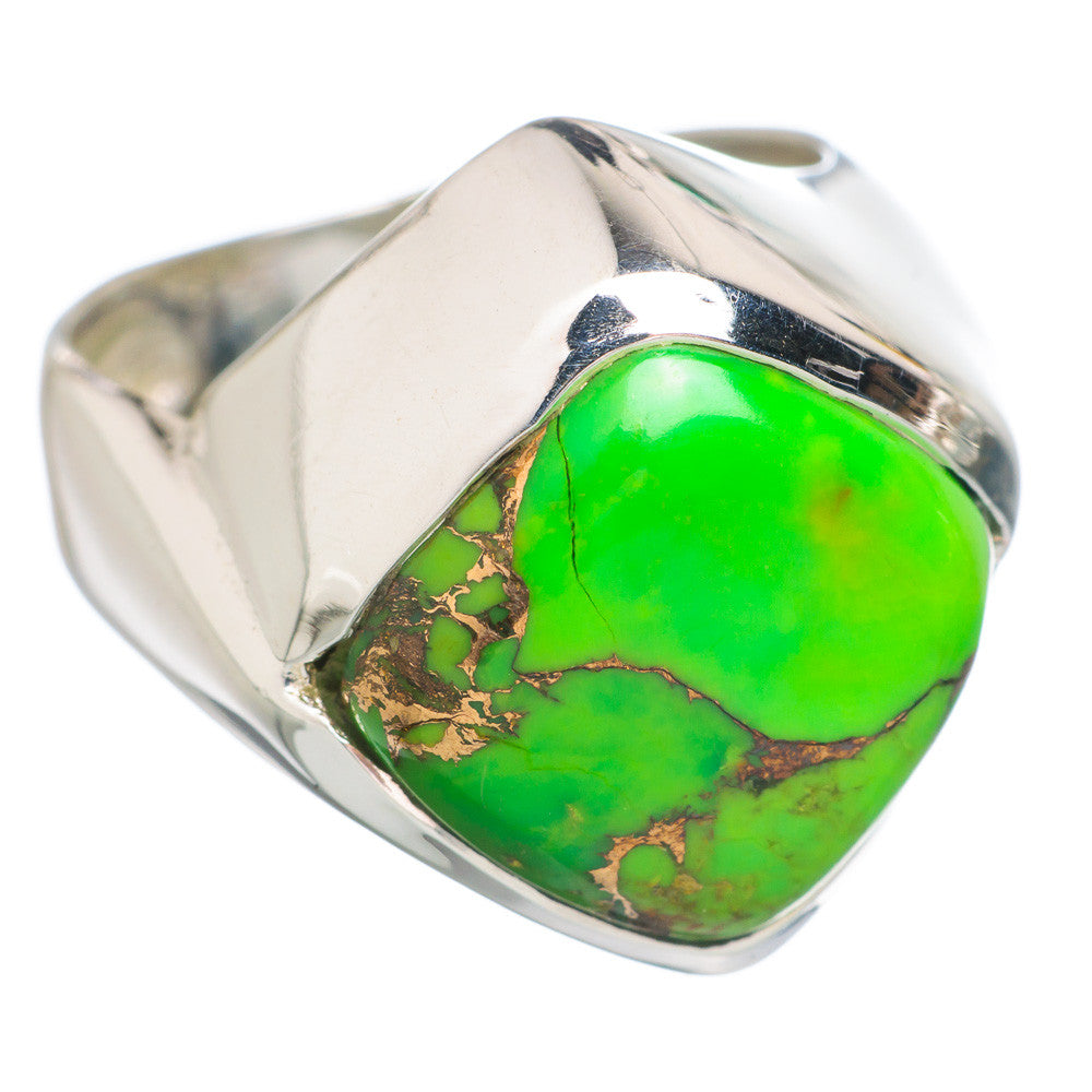 Modern Green Copper Turquoise Sterling Silver Ring - Keja Designs Jewelry