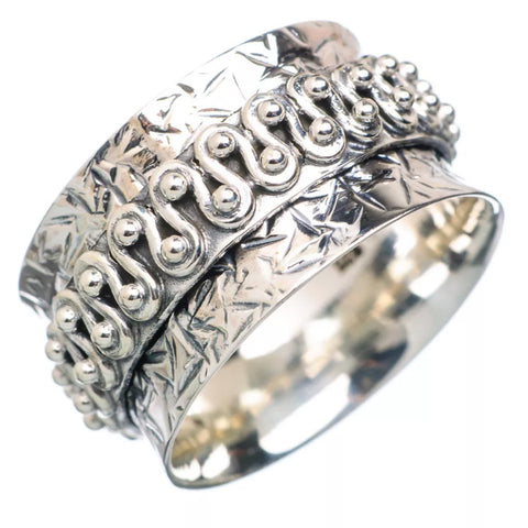 Spinner Ring - Sterling Silver Zig Zag