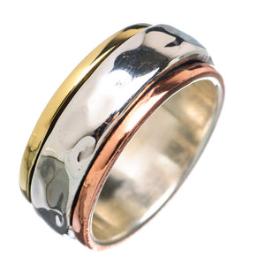 Spinner Ring - Three Tone Low Profile - Keja Designs Jewelry