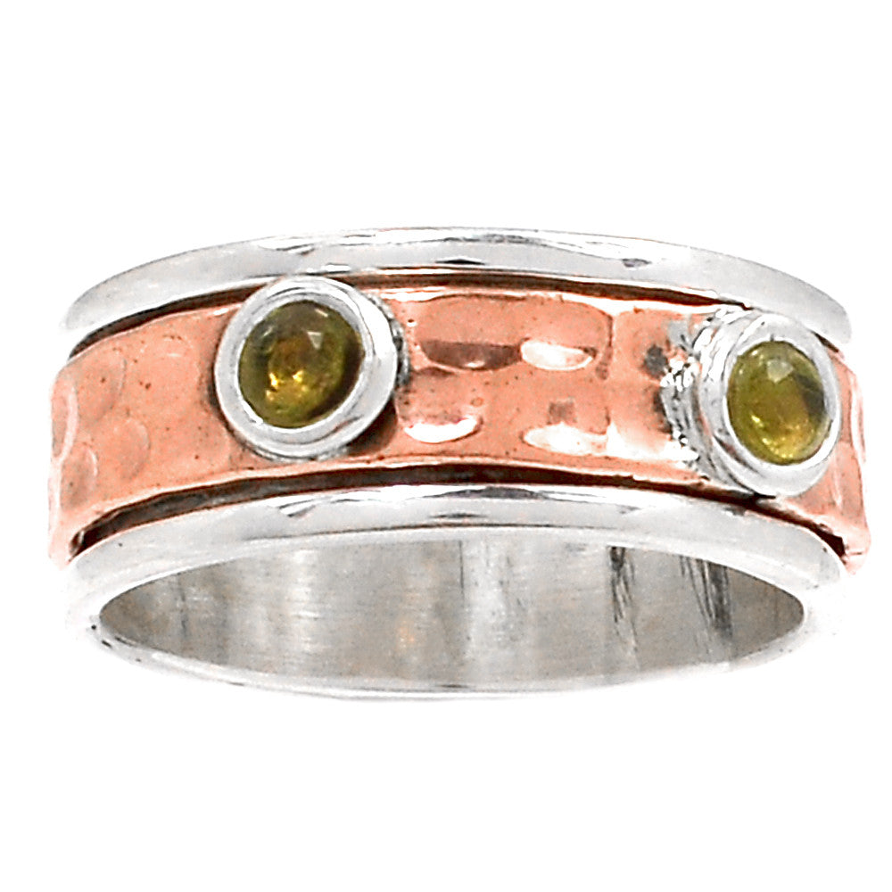 Spinner Ring - Two Tone Smoky Quartz - Keja Designs Jewelry