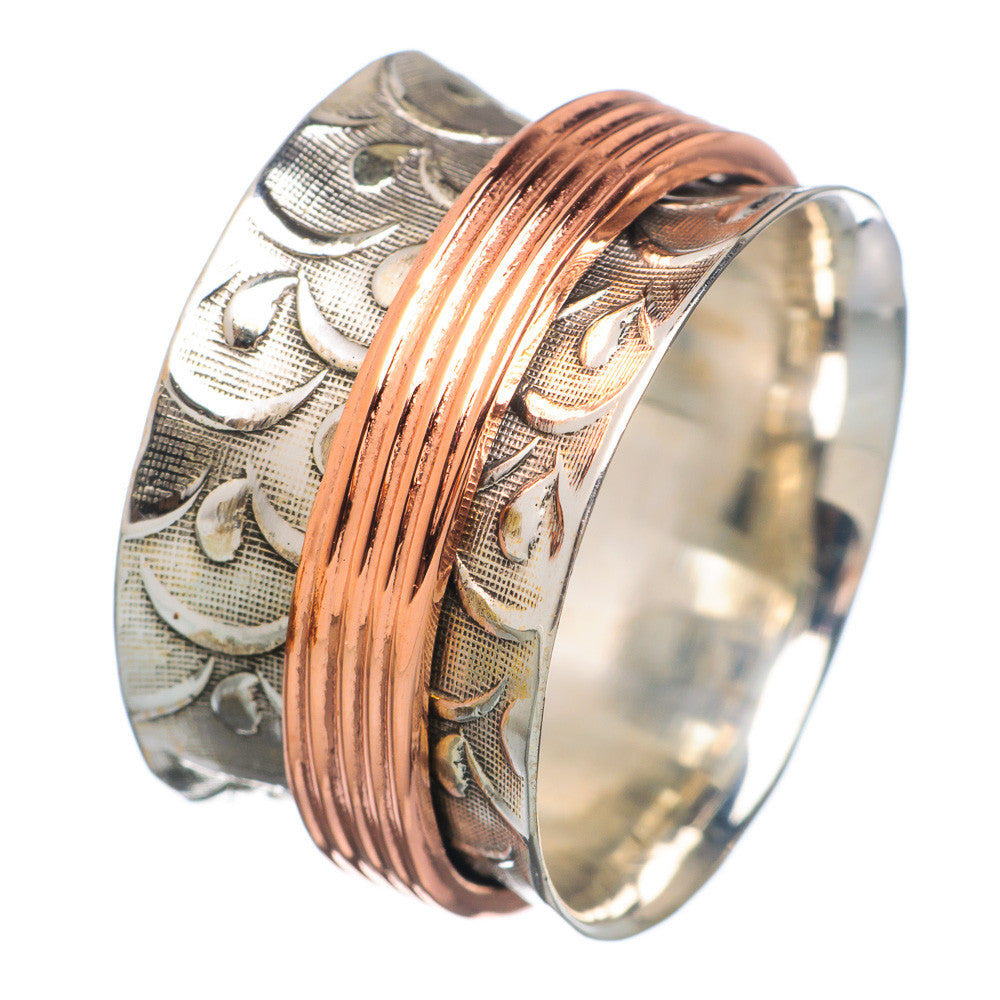 Spinner Ring - Two Tone Copper Spinner - Keja Designs Jewelry