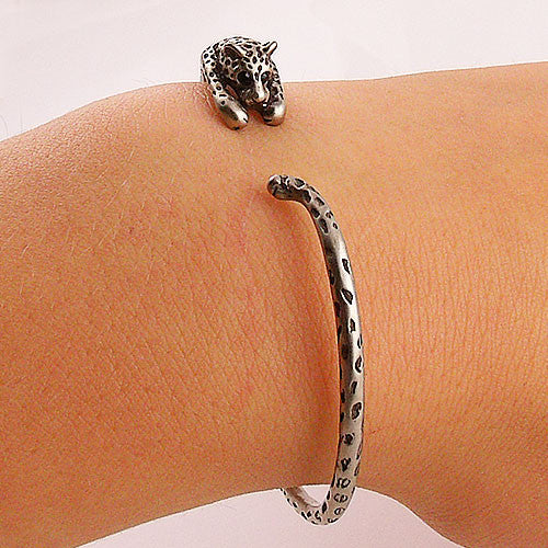 Animal Wrap Bracelet - Leopard - White Bronze - Keja Designs Jewelry