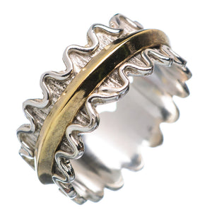 Two Tone Single Spinner Scalloped Spinner Ring - Keja Designs Jewelry