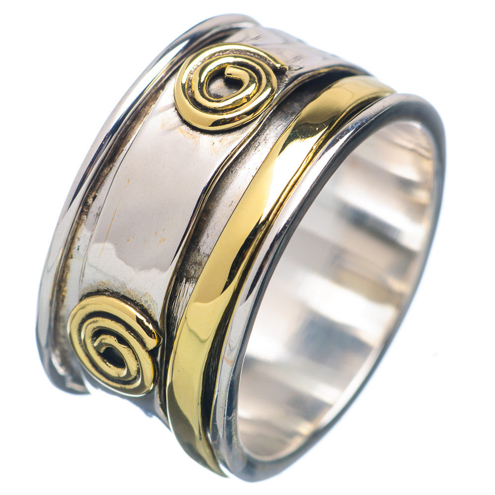 Two Tone Sprial Spinner Ring - Keja Designs Jewelry