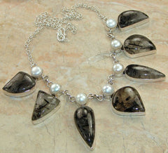 Tourmalinated Quartz Necklace - Keja Designs Jewelry