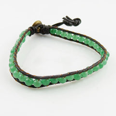 Aventurine Single Wrap Om Bracelet - Keja Designs Jewelry
