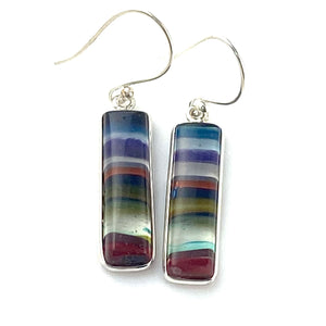 Surfite Sterling SIlver Oblong Earrings