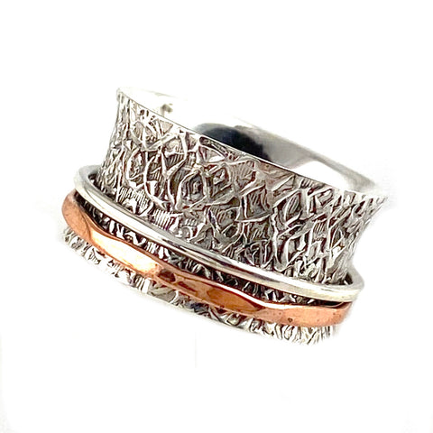 Spinner Ring - Two Tone Copper Spinner