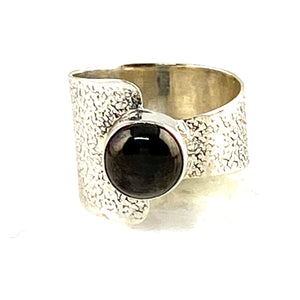 Shungite Sterling Silver Two Halves Ring