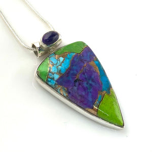 Multi-Turquoise Sterling Silver Point Pendant