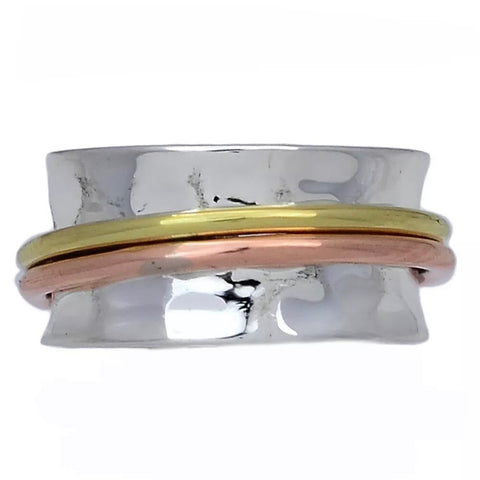 Spinner Ring - Three Tone - Keja Designs Jewelry