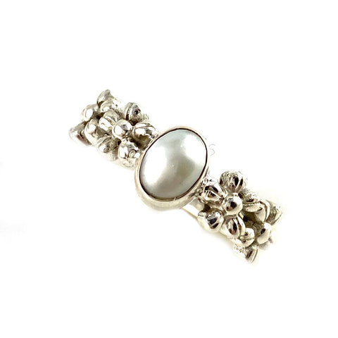 Pearl Garden Sterling Silver Ring - Keja Designs Jewelry