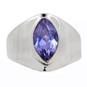 Alexandrite Marquise Sterling Silver Ring - Keja Designs Jewelry