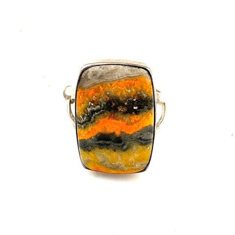Bumble Bee Jasper Sterling Silver Ring - Keja Designs Jewelry