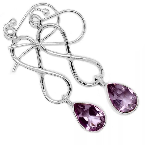 Alexandrite Sterling Silver Infinity Earrings