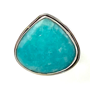 Paraiba Amazonite Sterling Silver Ring