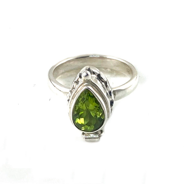 Peridot Sterling Silver Poison Ring