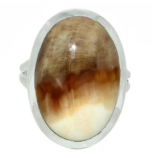 Petrified Wood Sterling Silver Ring - Keja Designs Jewelry