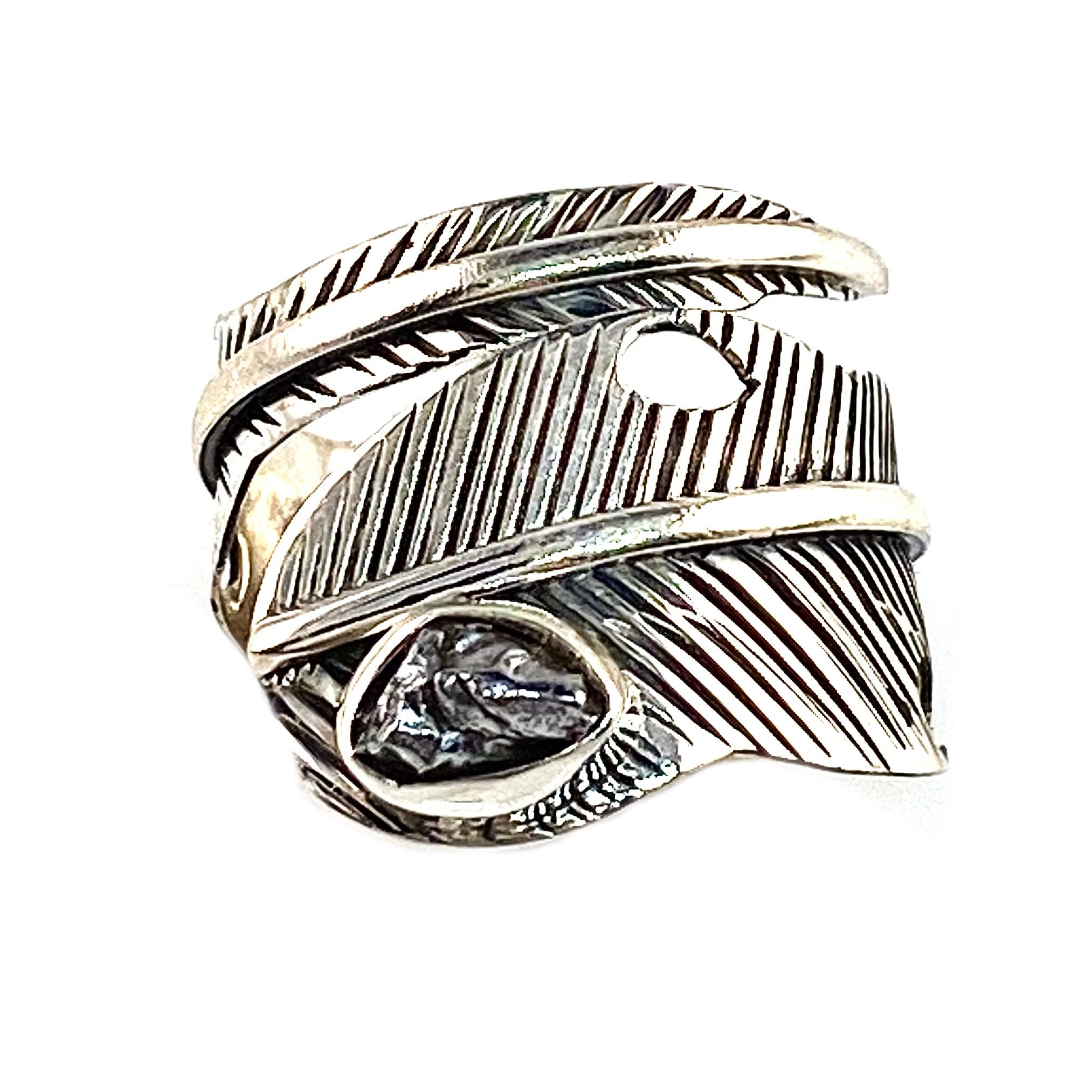 Campo de Cielo Meteorite Sterling Silver Adjustable Wrap Ring