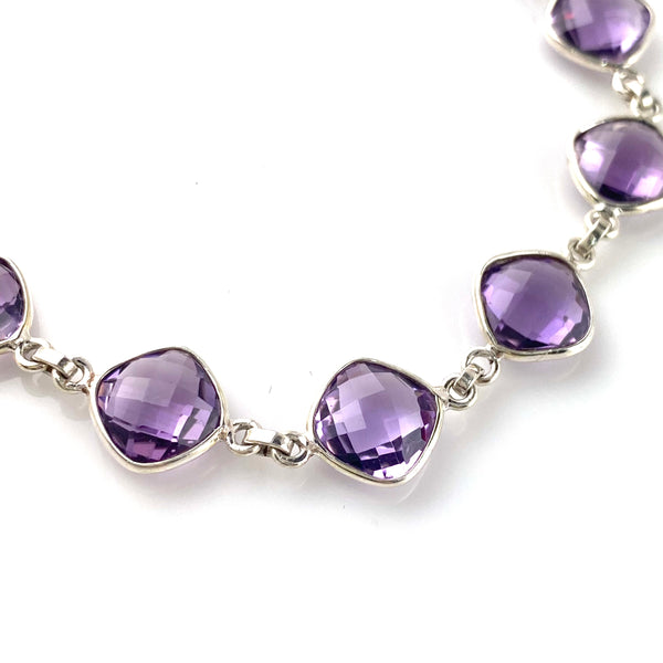 Purple Passion Amethyst Sterling Silver Bracelet
