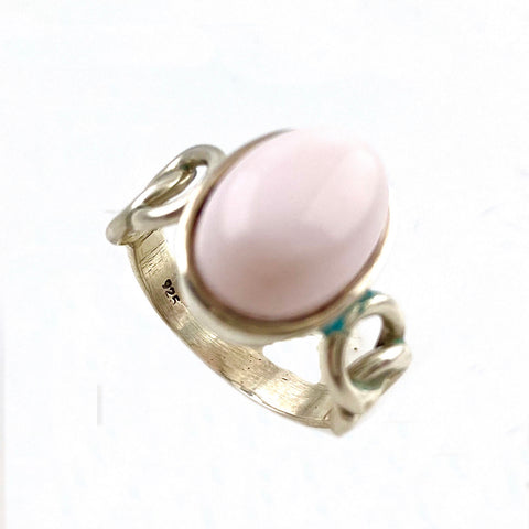 Pink Opal Sterling Silver Ring - Keja Designs Jewelry