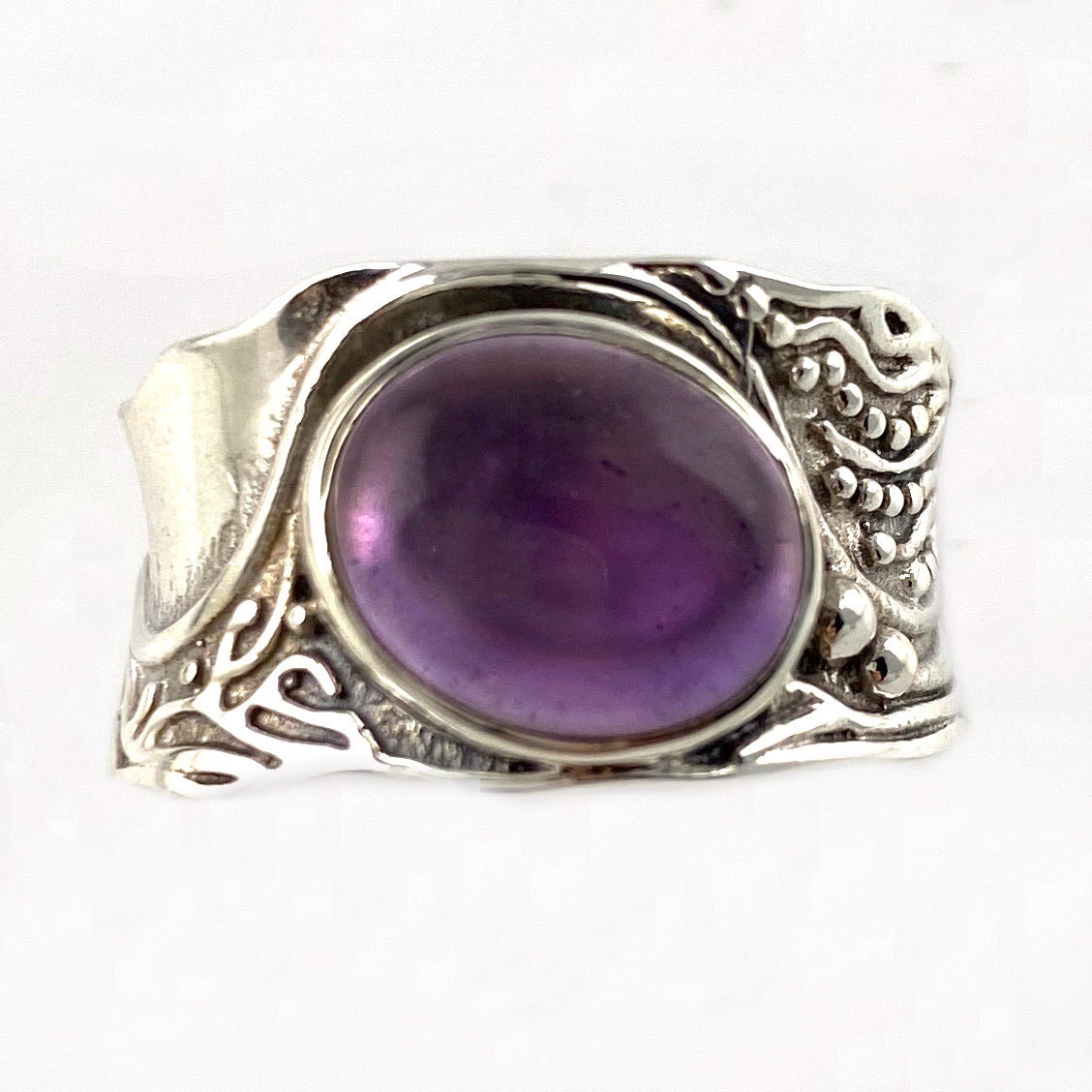 Amethyst In The Flow Sterling Silver Ring