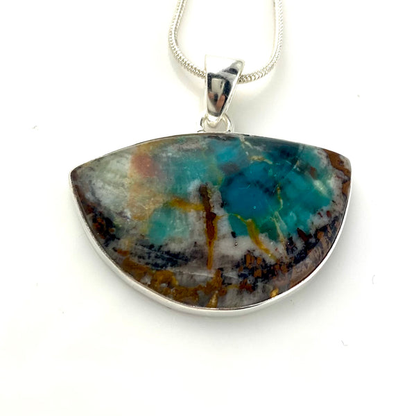 Colla Wood Sterling Silver Pendant
