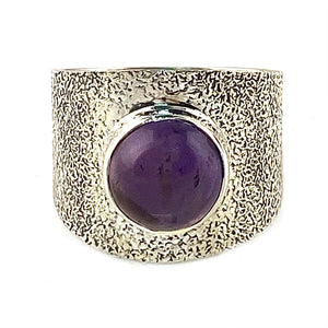 Amethyst Sterling Silver Band Ring