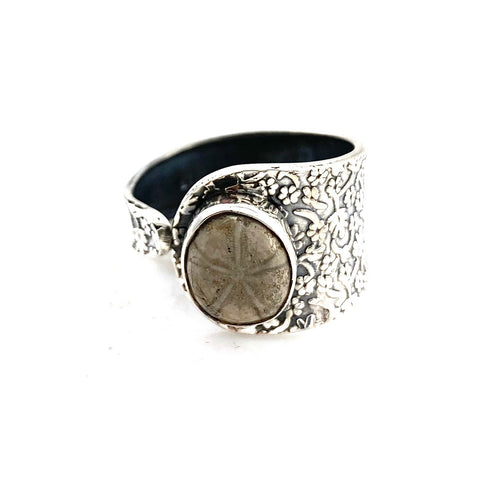 Sea Urchin Sterling Silver Adjustable Ring - Keja Designs Jewelry
