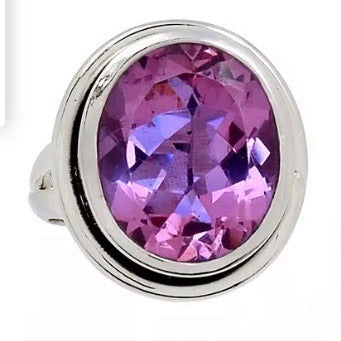Alexandrite Oval Sterling Silver Ring - Keja Designs Jewelry