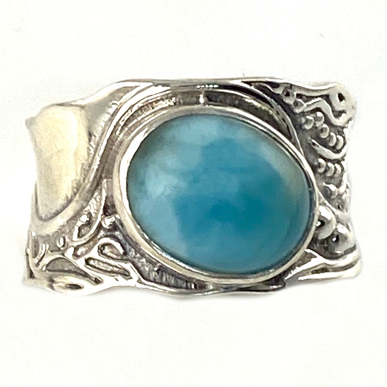 Larimar In The Flow Sterling Silver Ring