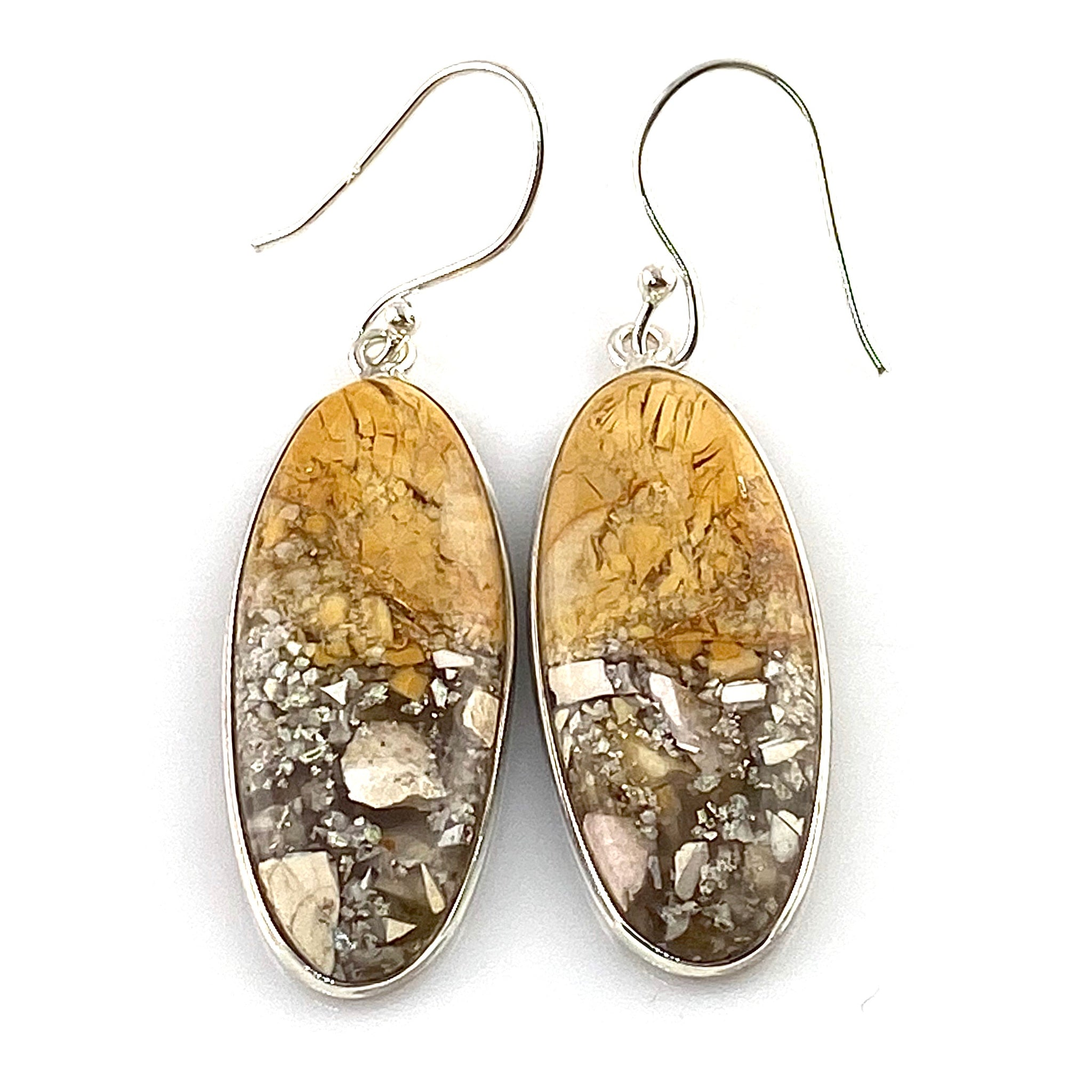 Australian Brecciated Mooakite Sterling Silver Earrings